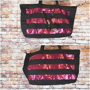 Victorias Secret Sequin Large Weekender Bag Tote